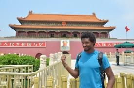 Portrait de Mao à l'entrée de la Cité Interdite