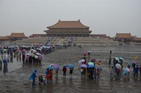 Visite de la Cité Interdite sous la pluie
