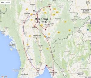 Itinéraire Birmanie détails